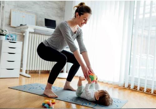 mamma che si allena